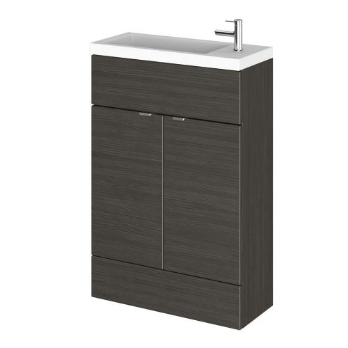 Elite Hacienda Black 600mm Compact Vanity Unit & Basin